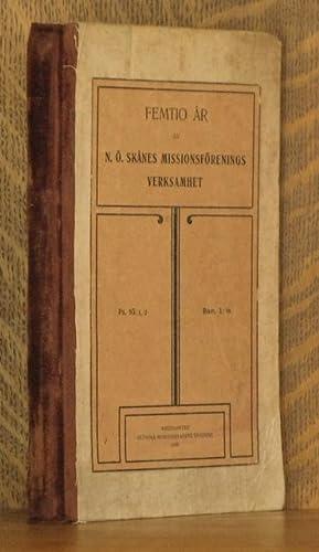 STRODDA DRAG UR N. O. SKANES MISSIONSFORENINGS HISTORIA