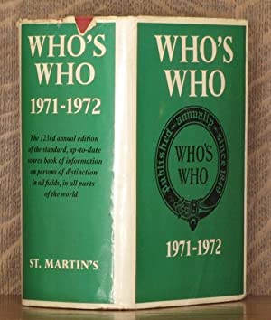 WHO'S WHO 1971-1972
