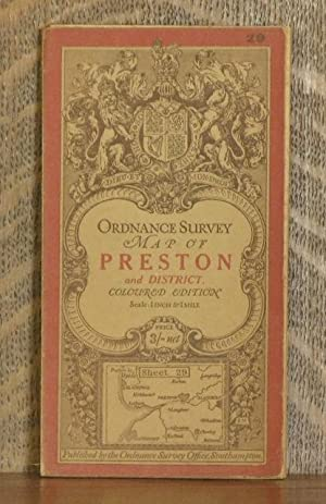 ORDNANCE SURVEY MAP OF PRESTON AND DISTRICT (Southport & Blackpool). Coloured edition, Scale 1 ...