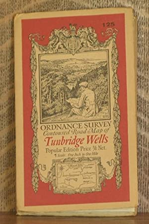 ORDNANCE SURVEY CONTOURED ROAD MAP OF TUNBRIDGE WELLS Popular edition Scale 1 inch to 1 mile- Sheet...