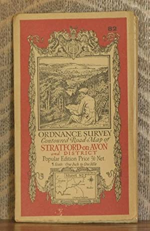 ORDNANCE SURVEY CONTOURED ROAD MAP OF STRATFORD-on-AVON AND DISTRICT Popular edition Scale 1 inch ...