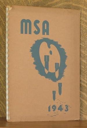 MASSACHUSETTS SCHOOL OF ART ANNUAL (YEARBOOK) 1943: Edited by Elizabeth Maloney & Virginia Cumming