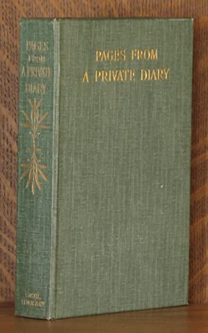 PAGES FROM A PRIVATE DIARY: anonymous/Henry C. Beeching