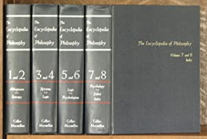 THE ENCYCLOPEDIA OF PHILOSOPHY (4 VOL SET - COMPLETE): edited by Paul Edwards
