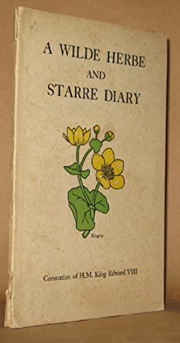 A WILDE HERBE AND STARRE DIARY for: Nellie F. Cornfield,