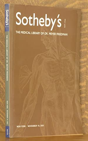 SOTHEBY'S THE MEDICAL LIBRARY OF DR. MEYER FRIEDMAN, NEW YORK, NOVEMBER 16, 2001: anonymous
