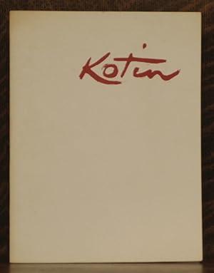ALBERT KOTIN - Exhibition Catalogue Byron Gallery April 7 - April 25, 1964: Albert Kotin
