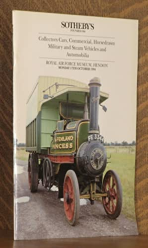 COLLECTORS CARS, COMMERCIAL, HORSEDRAWN MILITARY AND STEAM: Anonymous