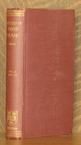 THE LETTERS OF DAVID HUME VOL 2 (INCOMPLETE SET): David Hume, edited by J. Y. T. Greig