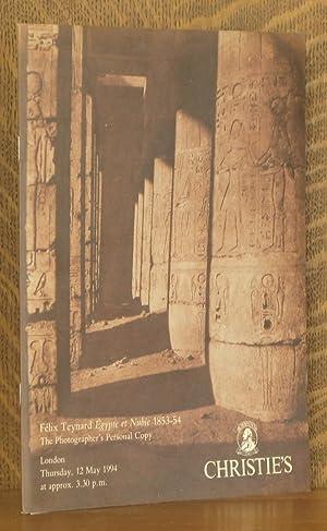 FELIX TEYNARD EGYPTE ET NUBIE 1853-54, THE PHOTOGRAPHER'S PERSONAL COPY, CHRISTIE'S, ...