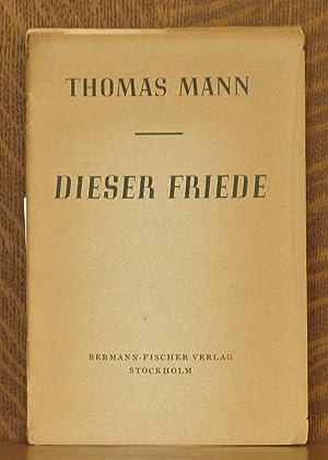 DIESER FRIEDE: Thomas Mann