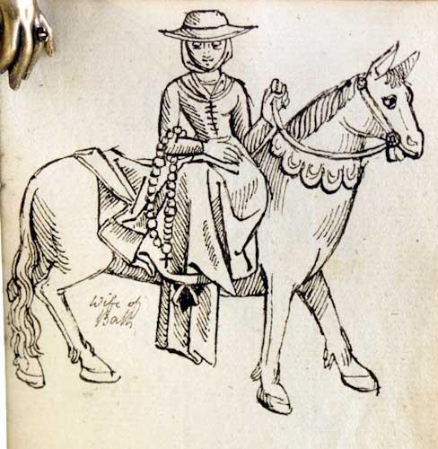 Thirteen original drawings for The Canterbury Tales