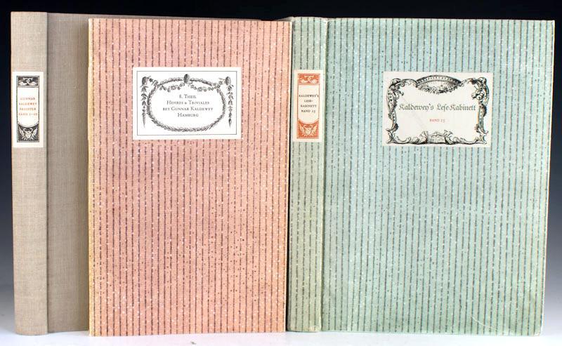 Antiquariat Gunnar Kaldewey: Katalog 34, Katalog 50, Katalog 67