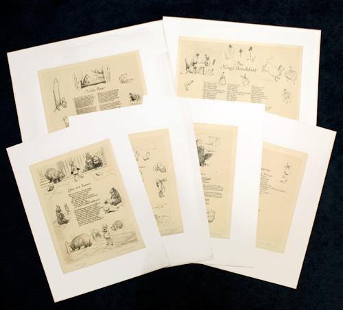 Six Drawings by E. H. Shepard Illustrating Poems from When We Were Very Young: Milne, A. A.