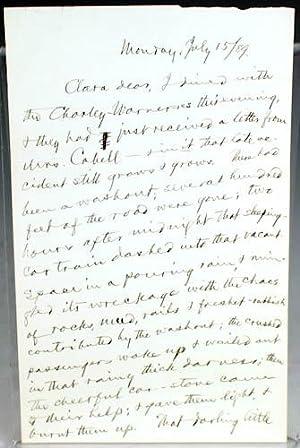Autograph Letter, Signed: Clemens, Samuel L.