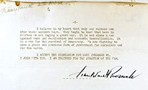 Address of President Roosevelt Accepting the Democratic Nomination for President of the United ...