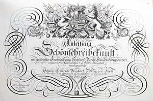 Anleitung zur Schönschreibkunst: Menzzer, Johann Friedrich Bernhard