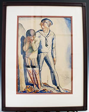 "Original painting: ""Sailor's Farewell,"" together with autograph: Kent, Rockwell"