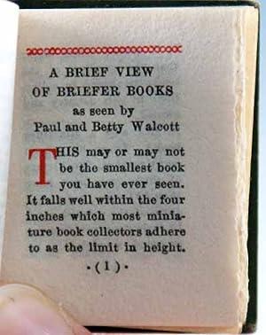 Chats About Miniature Books: Walcott, Paul and Betty