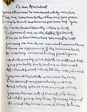 Eight Manuscript Poems: Frost, Robert