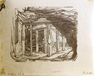 Proof sheet and book of proof engravings from unpublished Cranach Press Robinson Crusoe: Defoe, ...