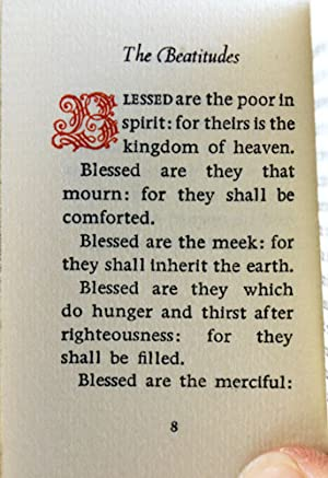 The Sermon on the Mount from the Gospel of St. Matthew, Chapters 5, 6, 7