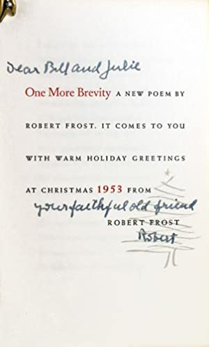 One More Brevity: Frost, Robert