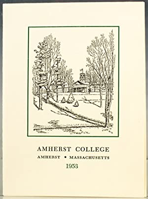 Amherst College New Year's Greeting, 1953: Frost, Robert