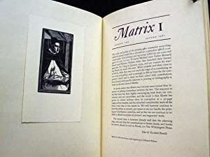 Matrix: A Review for Printers and Bibliophiles, Numbers 1 through 34 A complete run of the deluxe ...