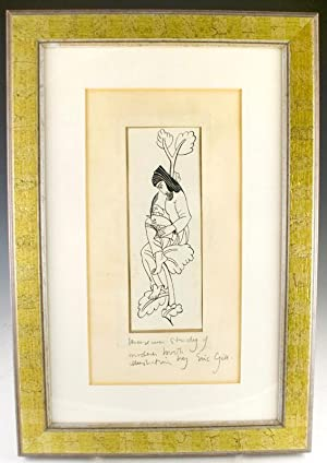 Original pen and ink drawing for Troilus and Criseyde