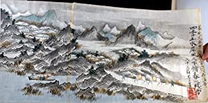 A screen of the four seasons, mountains and water, or, Living live through the four seasons