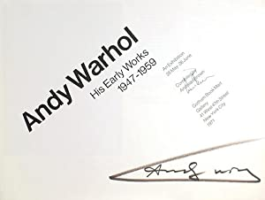 Andy Warhol: His Early Works, 1947-1959