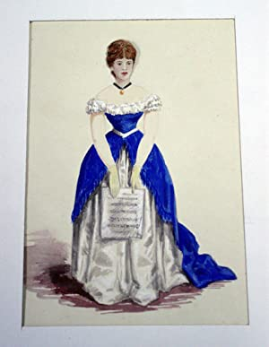 Hand-colored Ladies' Costumes with Transferable Head