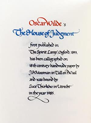 The House of Judgment: Wilde, Oscar