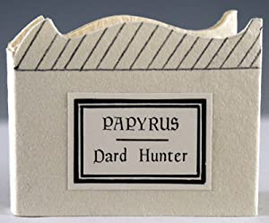 Dard Hunter on Papyrus. Excerpted from The Story of Early Printing