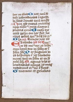 Manuscript Psalter Leaf
