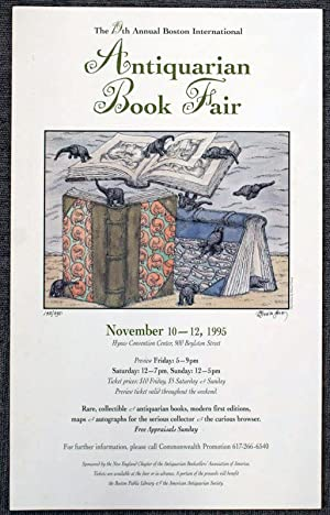 Poster for the 1995 Boston Book Fair: Gorey, Edward