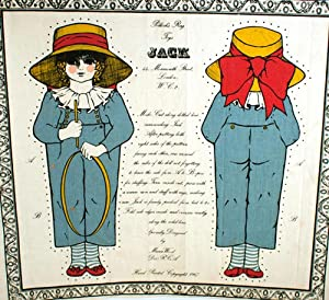 "Two Uncut Cloth ""Rag Toys"": Little Lizzie and Jack"