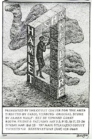 Poster for a Performance of Shakespeare's Hamlet