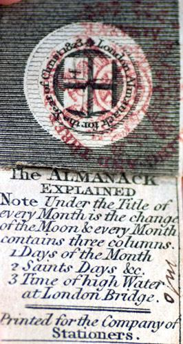 London Almanack for the Year of Christ 1823