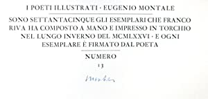 Sei Poesie e sei Disegni all'Acquaforte: Montale, Eugenio