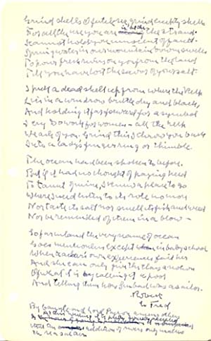 """Autograph Manuscript, Signed: """"Does No One but Me at All Ever Feel This Way in the Least?&quot..."""