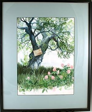 Original watercolor painting of a tree: Chamberlain, Sarah
