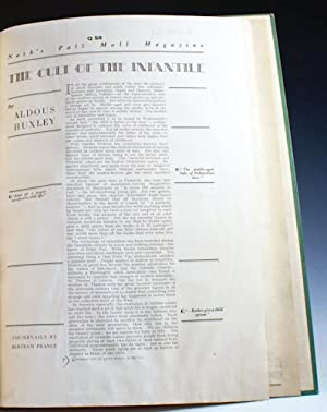 Proofs of Ten Essays for Nash's Pall Mall Magazine: Huxley, Aldous