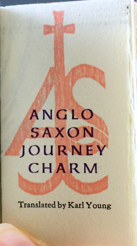 Anglo Saxon Journey Charm: Young, Karl (trans.)