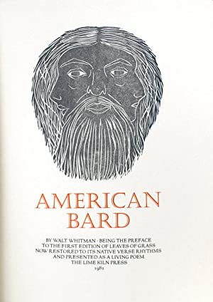 American Bard. Being the Preface to the: Whitman, Walt
