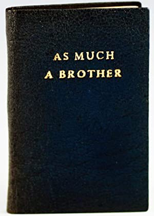 Elihu Burritt. As Much a Brother: Klingberg, Haddon E.