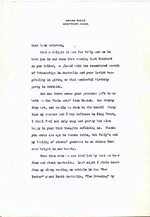 Typed Letters, signed: Keller, Helen
