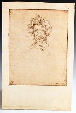 Etched portrait of Samuel Clemens