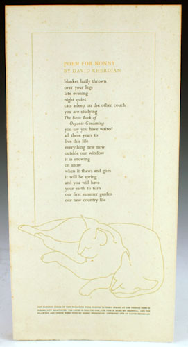 Poem for Nonny: Kherdian, David